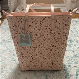 Brand new Katie Q blush vegan leather tote bag